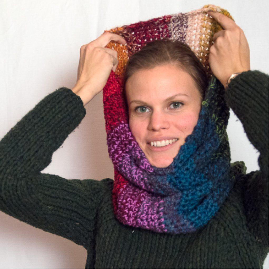 collo oversize multicolore